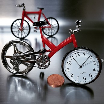 MOUNTAIN BIKE BICYCLE MINIATURE CLOCK COLLECTIBLE MTB TINYCLOCK GIFT