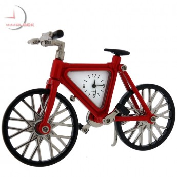 MOUNTAIN BIKE BICYCLE MINIATURE CLOCK COLLECTIBLE GIFT