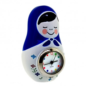 RUSSIAN DOLL MINIATURE COLLECTIBLE TRADITIONAL BABUSHKA DESK CLOCK