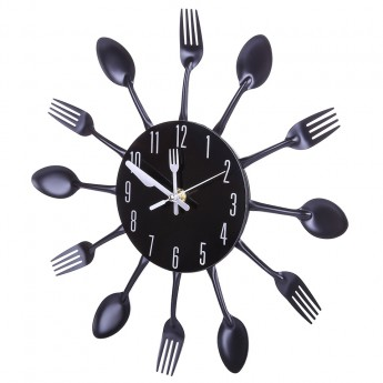 KITCHEN UTENSIL FORKS & SPOONS WALL CLOCK HOME DECOR IDEA