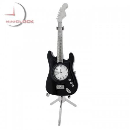 ELECTRIC GUITAR MINIATURE STRATO STYLE MUSIC COLLECTIBLE DESKTOP MINI CLOCK GIFT