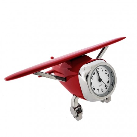 CESSNA AIRPLANE MINIATURE PLANE AVIATION FLIGHT PILOT COLLECTIBLE MINI CLOCK