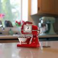 Deluxe Red Kitchen Mixer Mini/Miniature Clock