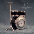Miniature Clock, Mini Black Drum Set