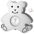 Mini Clocks Teddy Bear Business Card Holder Miniature Clock