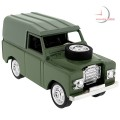 Miniature Clock, Green ARMY LANDROVER Vehicle