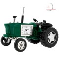 Mini Clock, Vintage Green FARM TRACTOR w/ Moving Wheels