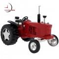 Mini Clock, Vintage Red FARM TRACTOR w/ Moving Wheels