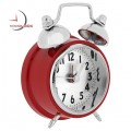 Miniature Red Classic Twin Bell Style ALARM CLOCK