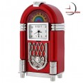 JUKEBOX MINIATURE MUSIC VINTAGE STYLE COLLECTIBLE MINI CLOCK GIFT IDEA