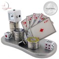 POKER ROYAL FLUSH CARDS Mini Clock - Diamonds / Casino