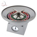 ROULETTE WHEEL Casino Miniature Collectible Clock - Real Action!