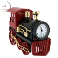 Mini Clock, Vintage STEAM ENGINE, LOCOMOTIVE, TRAIN