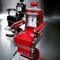 BARBER CHAIR MINIATURE SALON HAIR STYLIST BARBER COLLECTIBLE MINI CLOCK