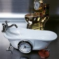 Clawfoot Bathtub Mini Clock Instagram Photo