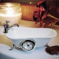 CLAWFOOT BATHTUB VINTAGE STYLE MINIATURE COLLECTIBLE BATHROOM MINI CLOCK
