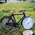 VINTAGE BICYCLE Miniature BIKE Collectible Clock Premium Gift Idea