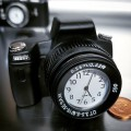 CAMERA MINIATURE PHOTOGRAPHY DIGITAL CAMERAS COLLECTIBLE DESKTOP MINI CLOCK