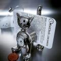 SPRING CAT MINI CLOCK BIZ CARD MEMO HOLDER COLLECTIBLE DESKTOP GIFT