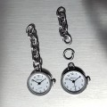 CHARM SIZE MINIATURE WATCH MINI CLOCK FOR KEY CHAINS RINGS BRACELETS & BACKPACKS
