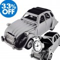 CITROEN 2CV FRENCH VINTAGE CAR COLLECTIBLE MINI DESKTOP CLOCK SALE