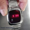 COMMODORE AUTHENTIC VINTAGE 1970s RED DISPLAY LED WATCH MINT CONDITION NOS