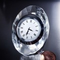 OVAL JEWEL CRYSTAL MINI DESK CLOCK COLLECTIBLE GIFT IDEA