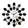 ARTISTIC DESIGNER WALL CLOCK RED & SILVER CIRCLES HOME DECOR GIFT IDEA