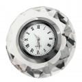 ROUND DIAMOND CRYSTAL CLOCK