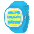 FLEX CLASSIC WATCH WITH YELLOW INTERCHANGEABLE SILICONE STRAP