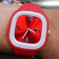 FLEX CLASSIC WATCH RED SILICONE STRAP