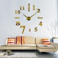 GIANT DIY 3D WALL CLOCK W/ NUMBERS & WORDS HOME DECOR
