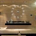 GIANT DIY 3D WALL CLOCK W/ ROMAN NUMERALS HOME DECOR