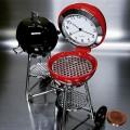 BARBECUE GRILL MINIATURE COLLECTIBLE DESK CLOCK