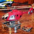 HELICOPTER MINIATURE EUROCOPTER 135-175 COLLECTIBLE AVIATION MINI CLOCK GIFT IDEA