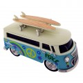 VAN MINIATURE HIPPIE VW STYLE VINTAGE BUS CAMPER COLLECTIBLE MINI CLOCK