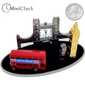 BRITISH BEST MINIATURE LONDON BRIDGE BIG BEN DOUBLE DECKER BUS ROYAL GAURD  COLLECTIBLE MINI CLOCK GIFT IDEA