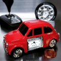 RED MINI CAR MINIATURE VEHICLE COLLECTIBLE DESKTOP CLOCK