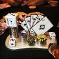 POKER TEXAS HOLDEM CARDS MINIATURE SPADES ROYAL FLUSH MINI CLOCK