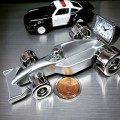 RACE CAR MINIATURE FORMULA 1 RACING VEHICLE COLLECTIBLE MINI CLOCK GIFT IDEA