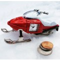 SNOW MOBILE MINIATURE POLARIS STYLE COLLECTIBLE MINI CLOCK GIFT