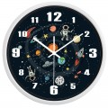 SPACE TRAVEL ASTRONAUT & PLANETS WALL CLOCK