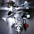 SPITFIRE MINIATURE BRITISH FIGHTER PLANE COLLECTIBLE AIRPLANE MINI CLOCK