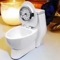 TOILET MINIATURE COLLECTIBLE DESKTOP BATHROOM MINI CLOCK