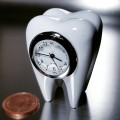 TOOTH MINIATURE MOLAR DENTAL DENTIST ORTHODONTIST COLLECTIBLE MINI CLOCK GIFT