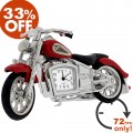 INDIAN STYLE MOTORCYCLE DESK CLOCK 33% OFF