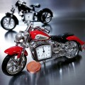 TINY INDIAN STYLE MOTORCYCLE DESK CLOCK